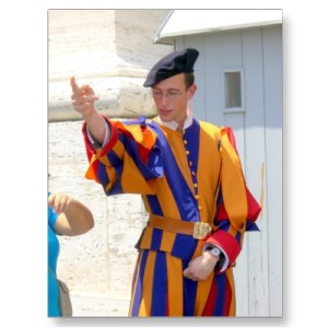 swiss-guard-post-card-by
